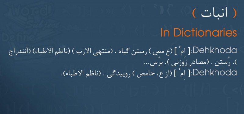 meaning انبات