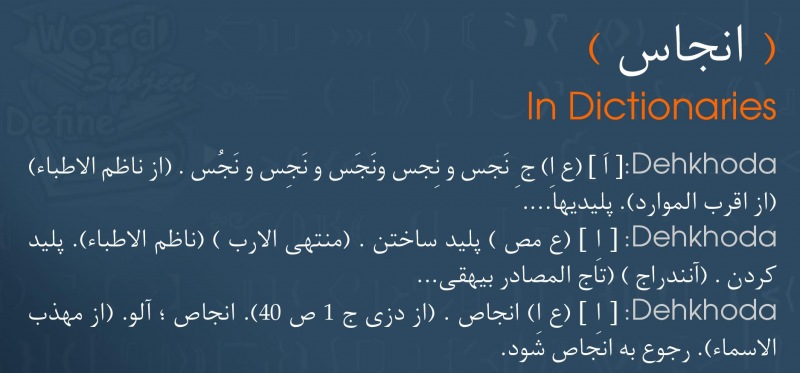 meaning انجاس