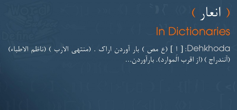 meaning انعار