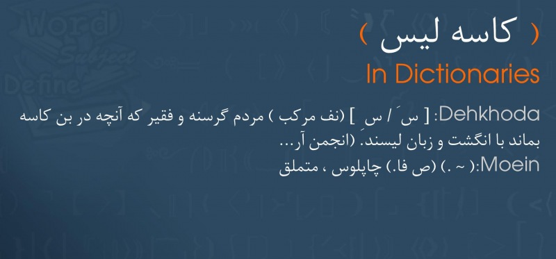 meaning کاسه لیس